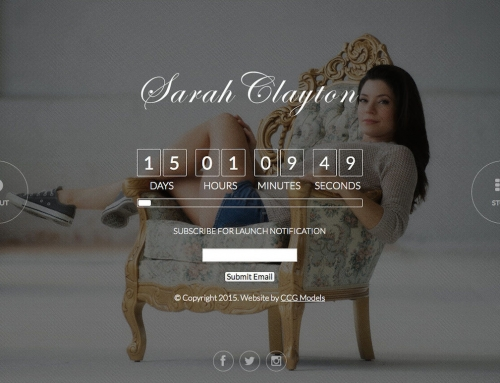 Sarah Clayton Website Launch Countdown